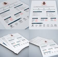 Build A Free Resume And Print 100 Best Free Resume CV Templates PSD Download Download PSD 69