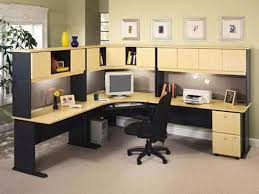 ikea office furniture desk. Image Of: A Corner Computer Desk With An Eye-catching Beech And Slate Gray Ikea Office Furniture O