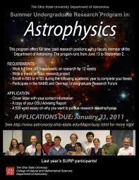 osu astronomy department summer undergraduate research program summer undergraduate research program in astrophysics
