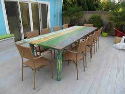 table recycled materials. Custom Made Dining Table Multi-Coloured Recycled Materials D