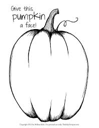 Printable Pumpkin coloring page from TheInkyOctopus.com. Click ...