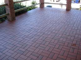 basketweave with quarry tile cool patio tiles over concrete