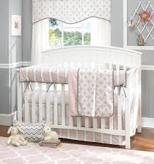 pink 4 piece crib bedding set baby and gold arrow p