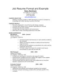 Sample Of A Simple Resume Format Free Resume Example And Writing