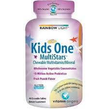 get rainbow light kids one multistars fruit punch chewable tablets