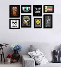 Picture Frames With Quotes Fascinating Buy Black Fibre Wood Quirky Quote Frames Bar Theme Wall Quotes Photo
