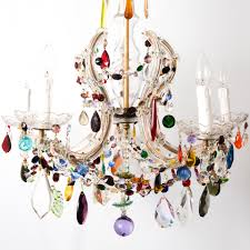 multi colored glass chandeliers chandelier designs