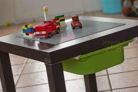 A easy to diy lego table that's compact and can be stowed away too. I Must Do This Lego Table Diy Lego Table Lego Play Table