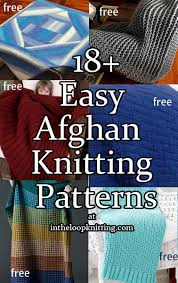Free Easy Knitting Patterns Impressive Easy Afghan Knitting Patterns In The Loop Knitting
