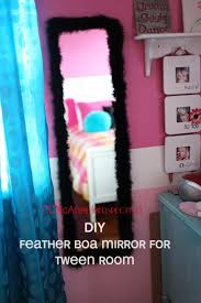 Mirrors For Girls Bedroom Perspective Easy Diy Feather Mirror For Tween Room Perspective