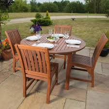 4 seater garden table and chairs 4 seater dining set round table chairs wooden garden patio