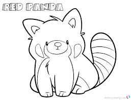 Red Panda Coloring Pages Pandas Combo Colouring Atalmageco