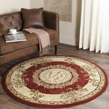 living room astonishing 8 foot round rug cotton material blue and multi color with living