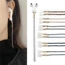2mm Miyuki kablosuz kulaklık zinciri kordon el yapımı boncuklu anti kayıp  zinciri Anti damla zinciri kulaklık için|Eyewear Accessories