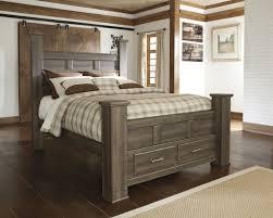 Oak Bedroom Sets King Size Beds Masculine Dark Smooth Finished Oak Wood Full Size Bed Frame Be