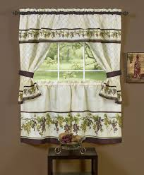 Exquisite Kitchen Window Design With Trends And Grape Curtains - Exquisite kitchen design