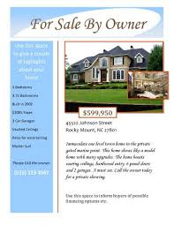 For Sale By Owner Flyer Template Word For Sale Owner Free