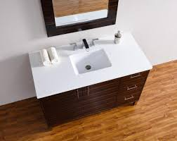 abstron 48 inch metropolitan ebony finish single modern bathroom vanity countertop