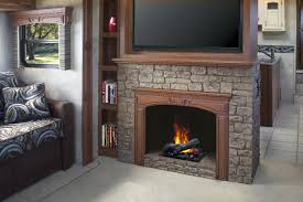 Fancy Fireplace Decorating Fancy Dimplex Electric Fireplaces With Stone Mantel