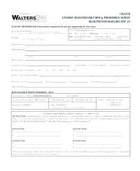 student application template registration form template student application templates council tax