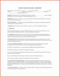 Disclosure Agreement Sample Simple Non Disclosure Agreement Template Fresh Non Disclosure 1