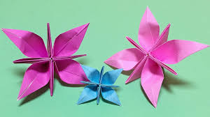 Easy Paper Origami Flower Easy Origami Flower With One Piece Of Paper Magdalene