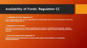 Low Risk Items Availability Rules Reg Cc Funds Availability