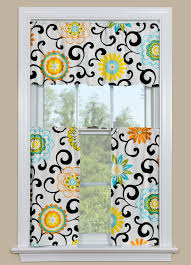 Kitchen Window Curtain Panels Modern Kitchen Curtain Panel With Brightly Colored Flowers In Our