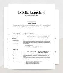 Resume Templete Resume Template Estelle RockStarCVSaturday 100st March 100 86