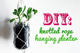 DIY: Learn How to Make a Knotted String Hanging Planter from Recycled  Materials
