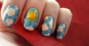 Lucys Nailss: Sunny Sky Nail Art (& Video Tutorial)