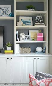 ikea built in office cabinets. how did we create that built-in in the family room? ikea built office cabinets