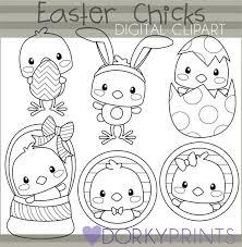 spring clip art black and white. easter chicks black line spring clipart clip art and white