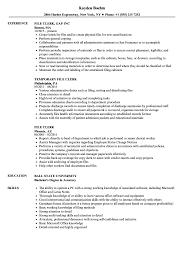 Unemployment Resume Sample File Clerk Resume Samples Velvet Jobs 18