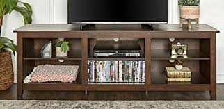 tv stand with storage. Unique With WE Furniture 70u0026quot Wood Media TV Stand Storage Console  Traditional  Brown Throughout Tv With S