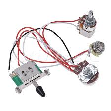 popular guitar wiring harness buy cheap guitar wiring harness lots electric guitar wiring harness prewired kit 3 way toggle switch 1 volume 1 tone 500k pots