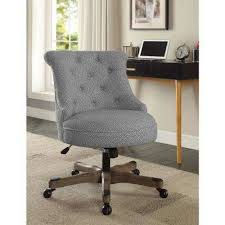 desk chairs fabric. Exellent Desk Sinclair Light Gray And White Dots Upholstered Fabric With Wood Base  Office Chair On Desk Chairs I