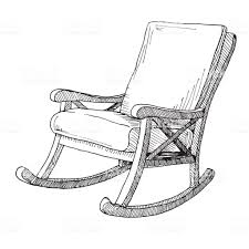 Rocking chair drawing Furniture Rocking Chair Isolated On White Background Sketch Comfortable Chair Vector Illustration Illustration Istock Rocking Chair Isolated On White Background Sketch Comfortable