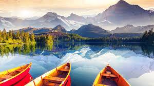 tourist plateau snow mountain lake reflection wallpaper 1080p
