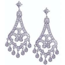 chandelier diamond earrings bridal