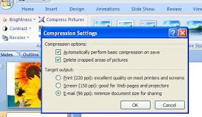 how to reduce screen size reduce the size of your powerpoint 2007 images projectwoman com