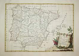 Li Regni di Spagna e Portogallo divisi nelle sue provincie di nuova  projezione.