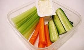 veggie sticks with dip