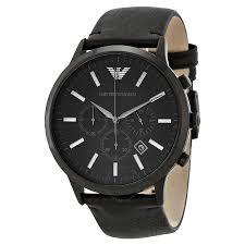 emporio armani sportivo chronograph black dial men s watch ar2461