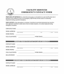 In Case Of Emergency Form For Employees 54 Free Emergency Contact Forms Employee Student Peoplewho Us