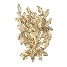 wall light sconce gold oak leaf for georgian and regency