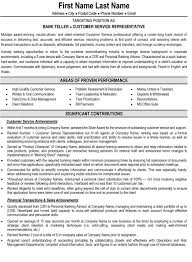 Resume Example For Bank Teller Resume Samples For Banking ...
