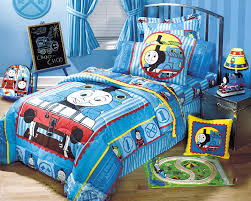 image of thomas and friends toddler bed blue