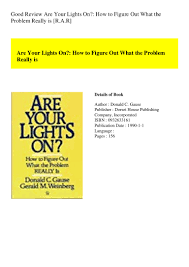 Are Your Lights On Book Good Review Are Your Lights On How To Figure Out What The