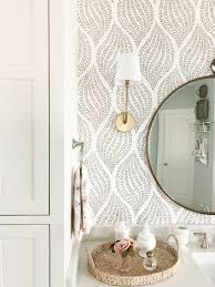 Mirror Design Wallpaper Measuring At Just Under 35 Inches Round They Are Hung